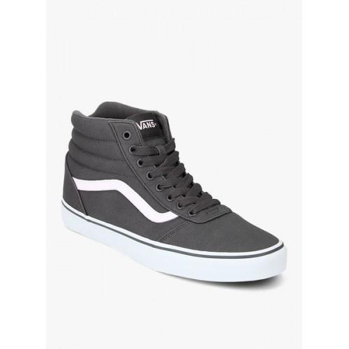 Buy Vans Men Grey Solid Ward Hi High