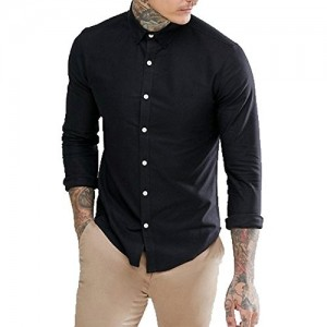 NxtSkin solid party wear full sleeves shirt for men's