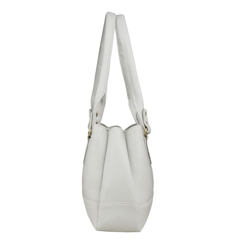 Fostelo Off White Canvas Elite Shoulder Bag