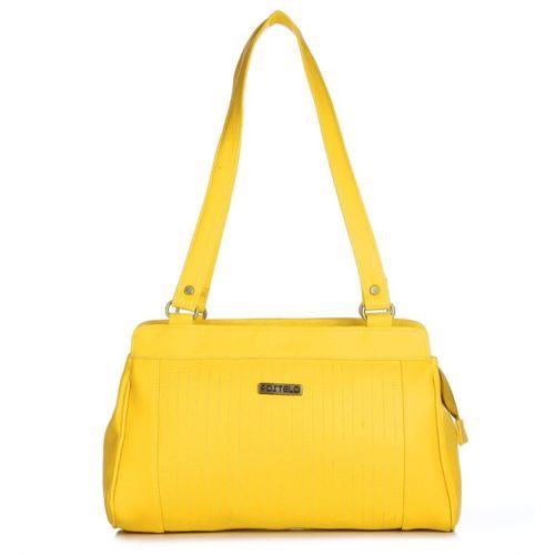 Fostelo Yellow PU Shoulder Bag
