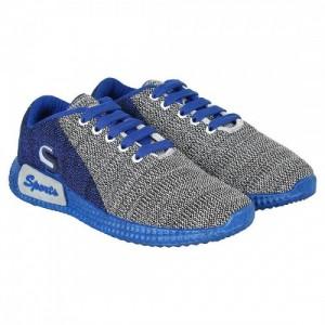 Bersache Men Gray Pvc Lace Up Running Shoes