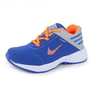 Trase Touchwood Blue Mesh Lace Up Sports Shoes
