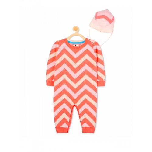 Cherry Crumble Kids Orange & Pink Printed Bodysuit