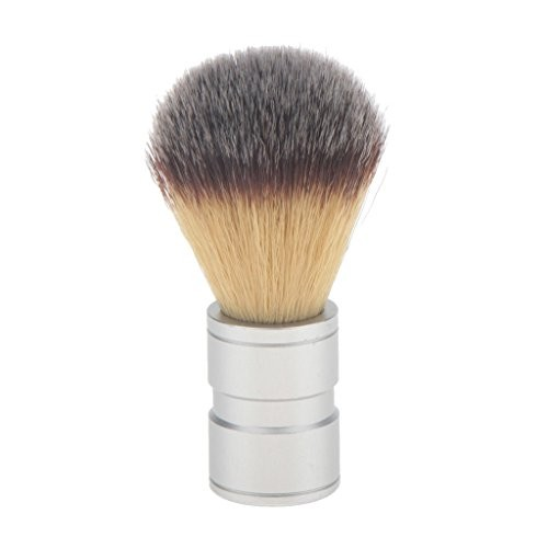 Kenem-X Shaving Brush Stainless Metal Handle Synthetic Hair