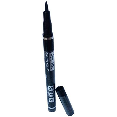ADS Liquied Waterproof No Smudge Long lasting Eyeliner, 36 Hr 12 Ml, Black