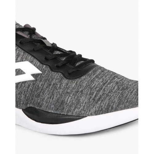 Lotto Gray Mesh Lace Up Sports Shoes