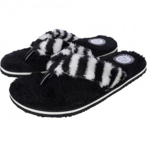92 MILES Black EVA SLip On Fur Flip Flops