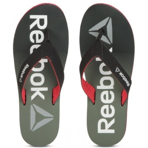 1c2d5cc5a Buy Reebok Green Synthetic Printed Men s Flip-Flops online