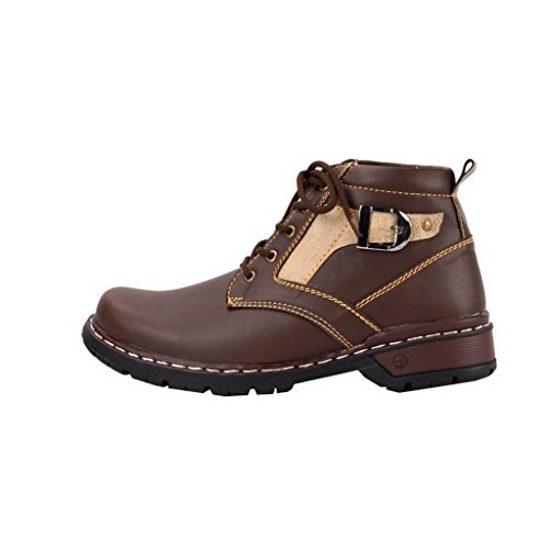 Chamois lace up Brown Boots
