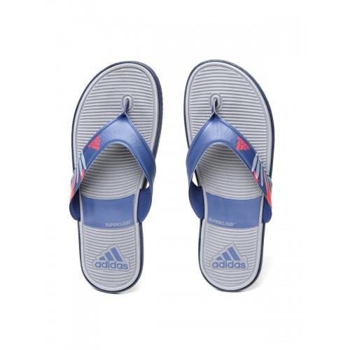 d2445d1de Buy Adidas Men Navy   Grey SC Beach Printed Thong Flip-Flops ...