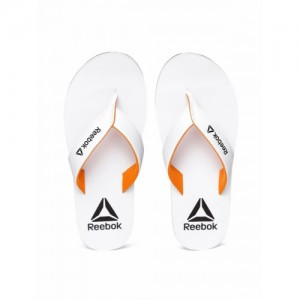 Reebok Men White Advent Thong Flip-Flops