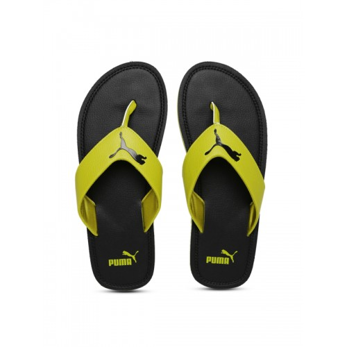 bf07bf5b8d40 Buy Puma Men Mustard   Black Solid Thong Flip-Flops online