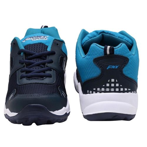 Look & Hook Fhonex 7 Navy Blue Lace Up Running Shoes