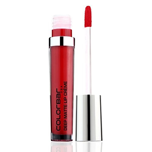 Colorbar Deep Matte Lip Creme, Deep Red 001, 6ml