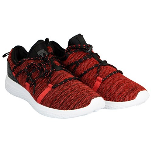Action Red Mesh Round Toe Sports Shoes