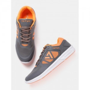 SEVEN by MS Dhoni Men Grey Notus Running Shoes