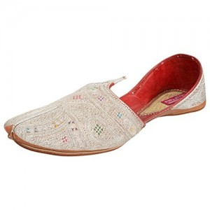 Royal Toes Off white Leather Mojari