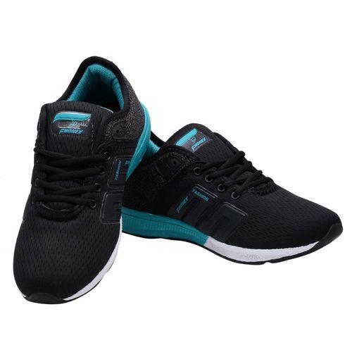 Look & Hook Fhonex Men Lace Up Black Running Shoes