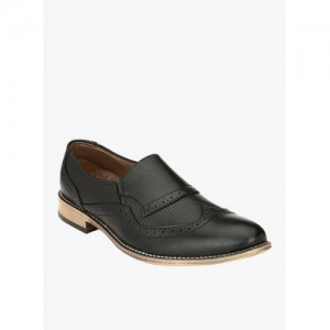 Prolific Black Solid Formal Shoes