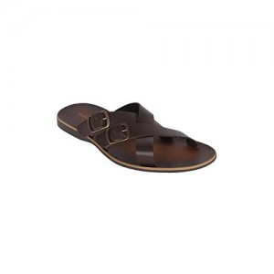 TONI ROSSI Brown Leather CASUAL MENS Chappal