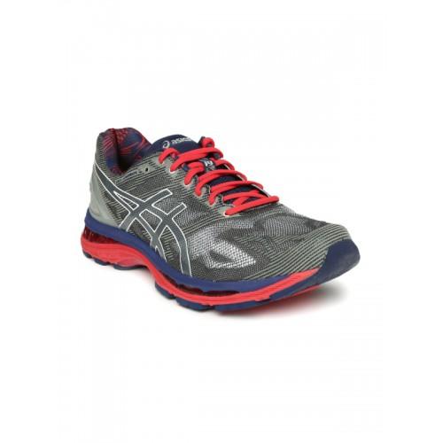 best sneakers 5c932 71266 Buy ASICS Men Grey GEL-NIMBUS 19 LITE-SHOW Running Shoes ...