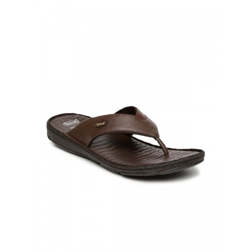 ea32c2507 Buy Dr. Scholl Men Brown Leather Chappal online