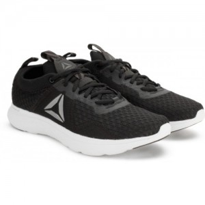 Reebok Black Synthetic Lace Up Sports Shoes