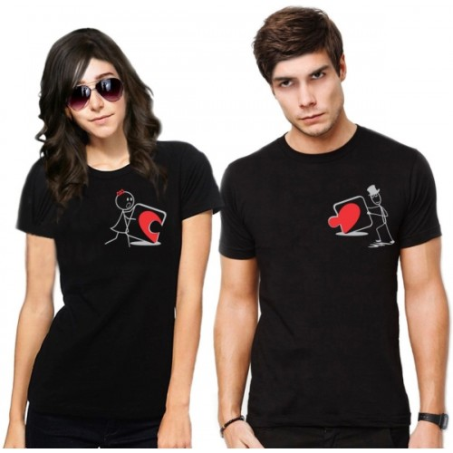 62e798141e Buy Frenemy Printed Men & Women Round Neck Black T-Shirt online ...