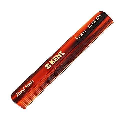 Kent Authentic Handmade Men's Pocket Comb, Dark Brown, 117mm