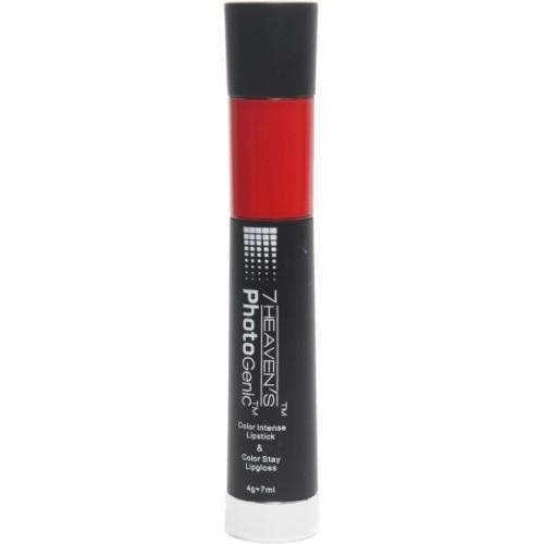 7 Heaven's Color Intense Lipstick & Color Stay Lip Gloss(7 ml, Rio Red)