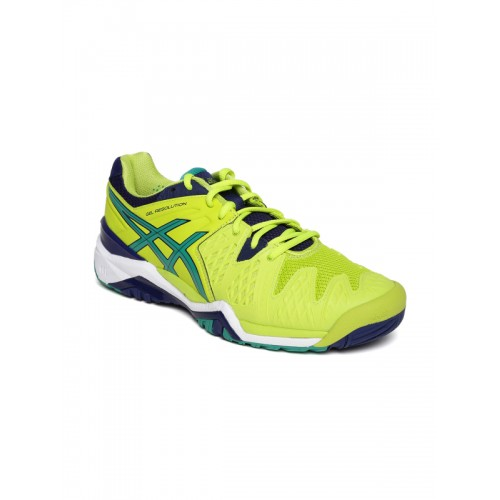 Achetez des chaussures ligne de de tennis 6 ASICS Men Lime Green Gel Resolution 6 en ligne a338d6a - alleyblooz.info