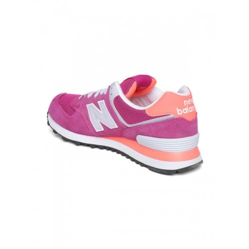 100% autentyczny oficjalne zdjęcia różne wzornictwo Buy New Balance Women Magenta WL574CPI Sports Shoes online ...