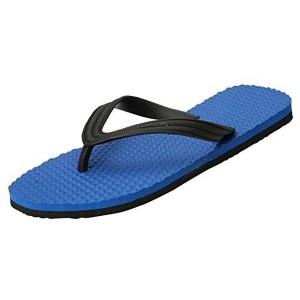 Hawalker Men's Blue Rubber Slippers