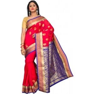 Pavechas Printed Kanjivaram Art Silk Sari