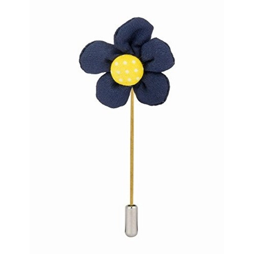 Buy knighthood handmade blue and yellow flower lapel pin brooch knighthood handmade blue and yellow flower lapel pin brooch mightylinksfo