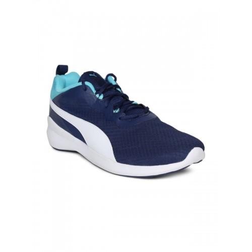 Buy Puma Men Navy Blue Pacer Evo Running Shoes online ... 0aa4ef420