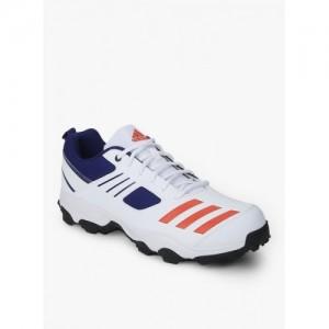 Adidas Hase White Lace Up Cricket Shoes