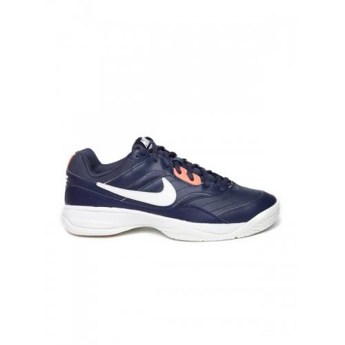 Nike Men Navy Blue Court Lite Tennis Shoes