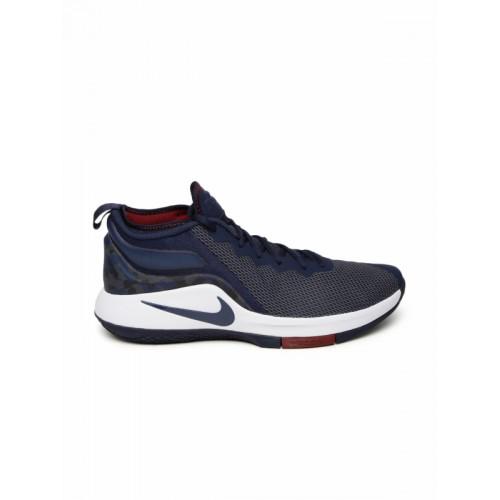 c60151fcf77 ... Nike Men Navy NBA LEBRON JAMES WITNESS II Mid-Top Basketball Shoes ...