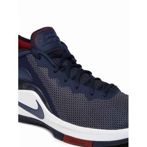 0c5f53aa64e Nike Men Navy NBA LEBRON JAMES WITNESS II Mid-Top Basketball Shoes ...