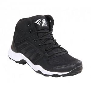 Baton Black Mesh Men Sports Shoes