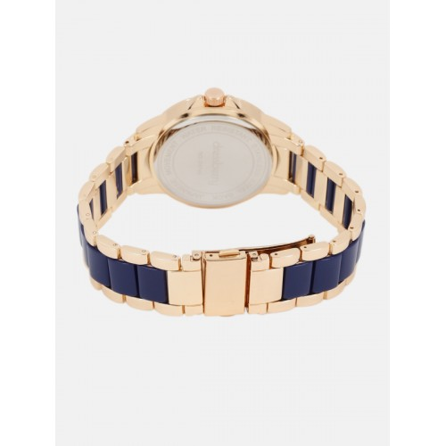 DressBerry Women Navy & Rose Gold-Toned Analogue Watch MFB-PN-WTH-S5740-2