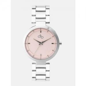 DressBerry Women Pink Stone-Studded Dial Watch DB10-D