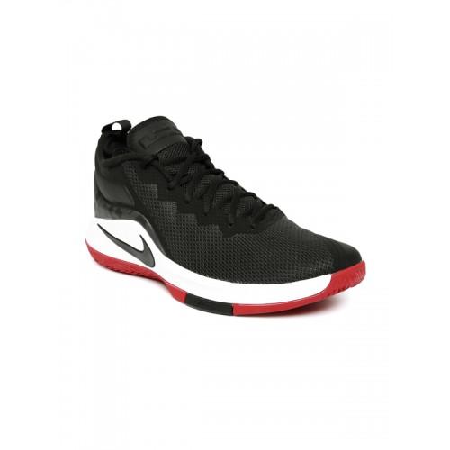 56608d1e16f3df Buy Nike Men Black LEBRON WITNESS II Mid-Top Basketball Shoes online ...