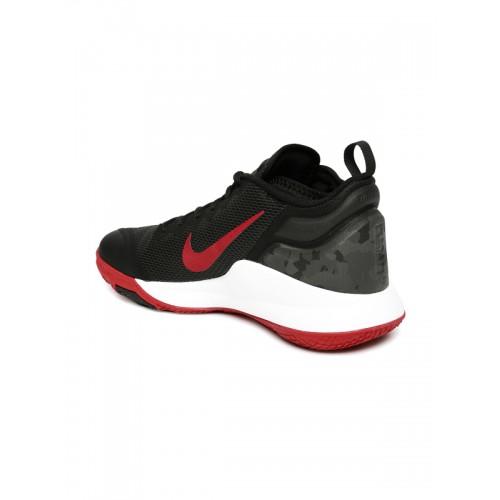 101ca63dc08 Buy Nike Men Black LEBRON WITNESS II Mid-Top Basketball Shoes online ...