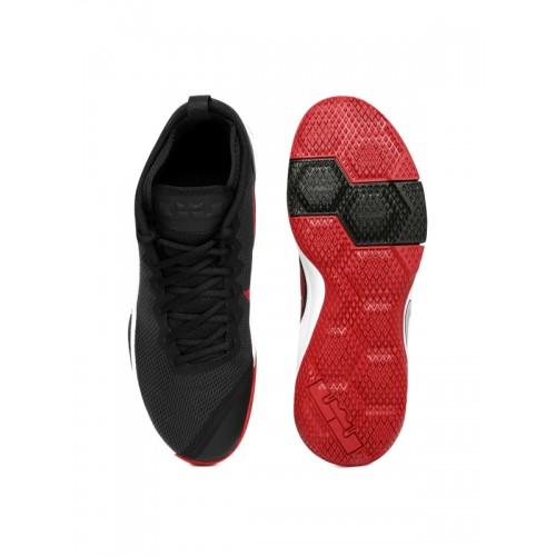 sale retailer f5b27 cc0dc ... Nike Men Black LEBRON WITNESS II Mid-Top Basketball Shoes ...