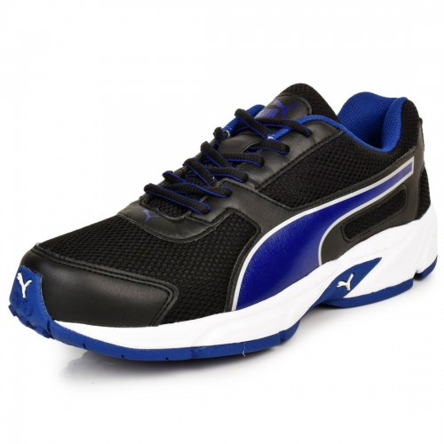 ad89f04d62b302 ... Puma Men s Black   Blue Running Shoes + 3 Pair Of Puma Socks (Ankle  Length ...