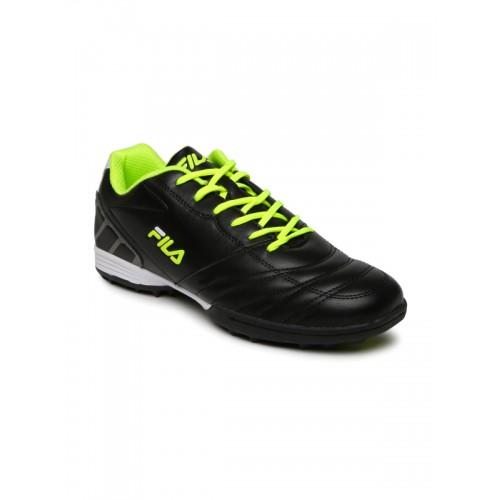 ... FILA Men Black MACARIO 2 Football Shoes ...