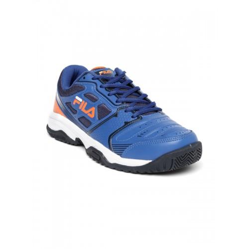 Buy FILA Men Blue Top Spin Tennis Shoes online  e44f690aa5866