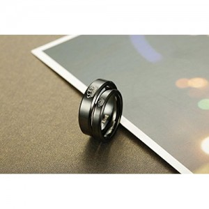 Moneekar Jewels Stainless Steel Black Couple Ring